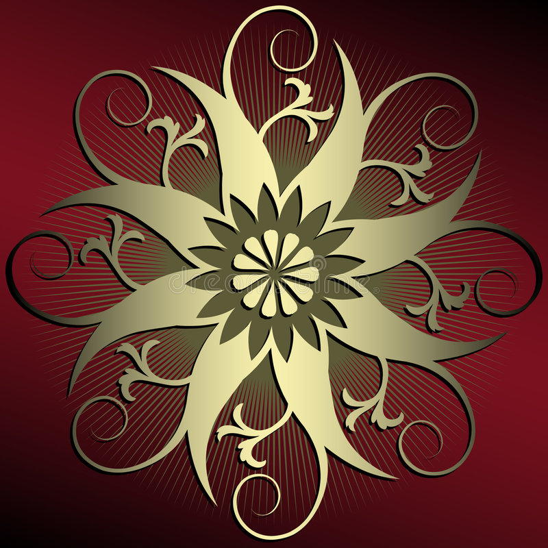 Abstract floral decoration stock illustration