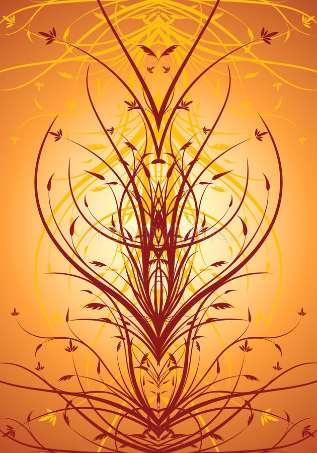 Abstract Floral Decorative Vertical Background Vector Illustrati Royalty Free Stock Images
