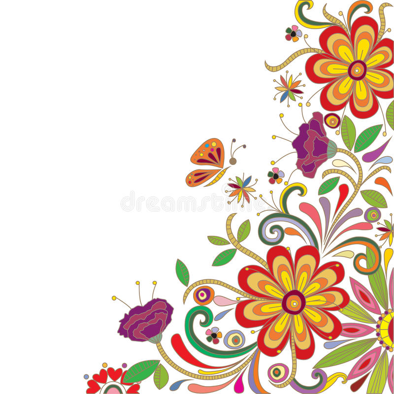 Abstract Floral Design royalty free illustration