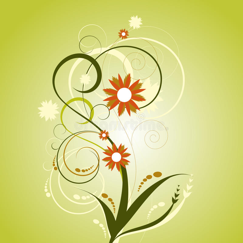 Download Abstract floral design stock vector. Illustration of background - 14852658
