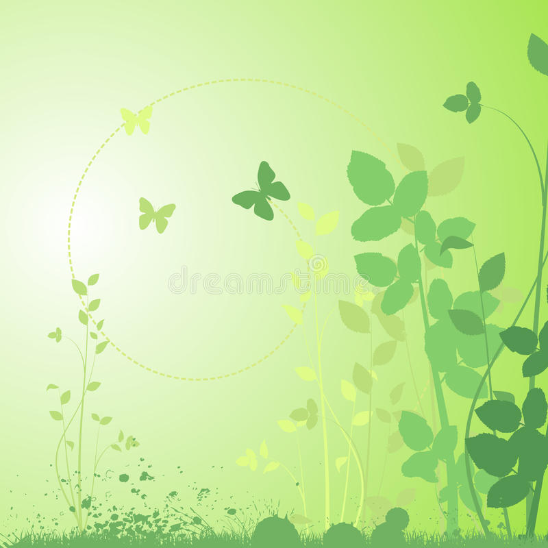 Download Abstract floral design stock vector. Image of butterfly - 14852805