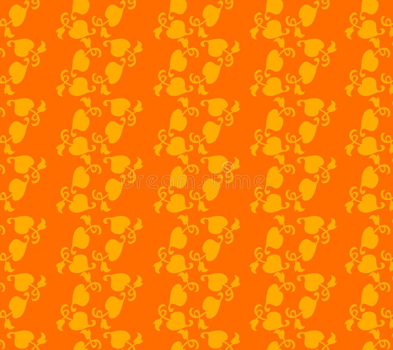 Abstract. Floral design combination of lines and dots dark yellow color with bright yellow form a beautiful design artwork captivating stock illustration