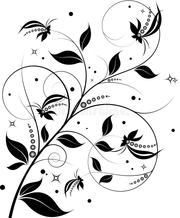 Abstract floral design element royalty free illustration