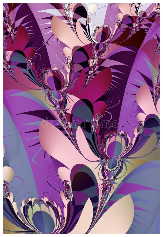 Abstract floral fractal design vector illustration