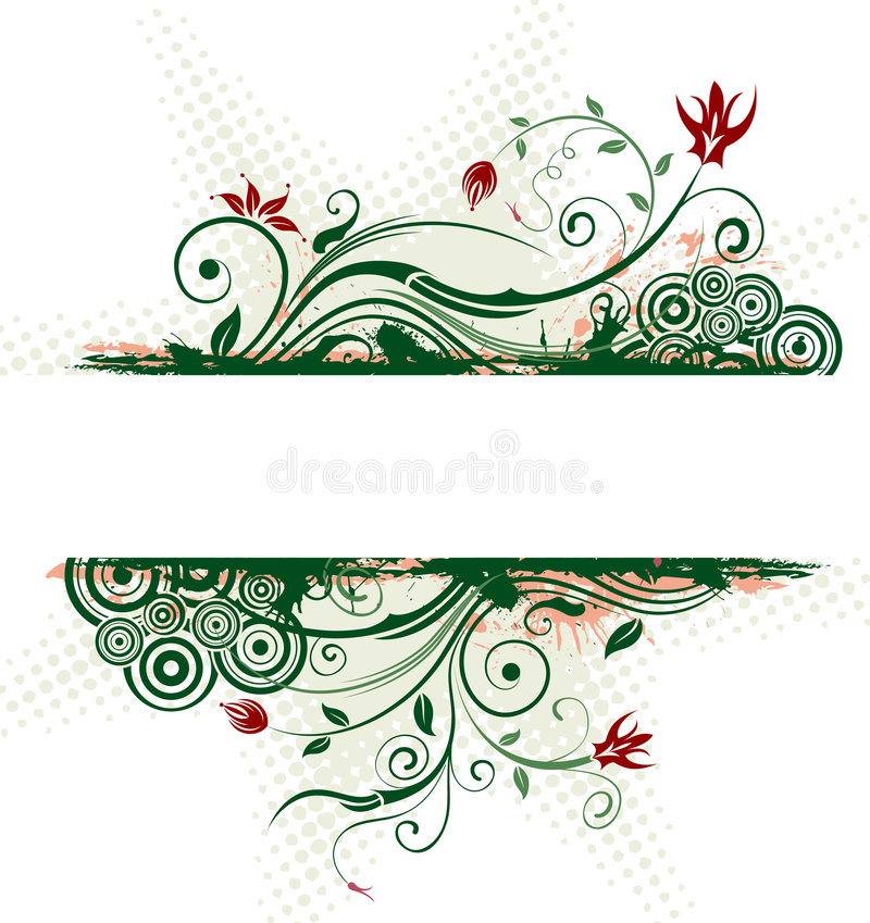 Abstract floral frame royalty free illustration