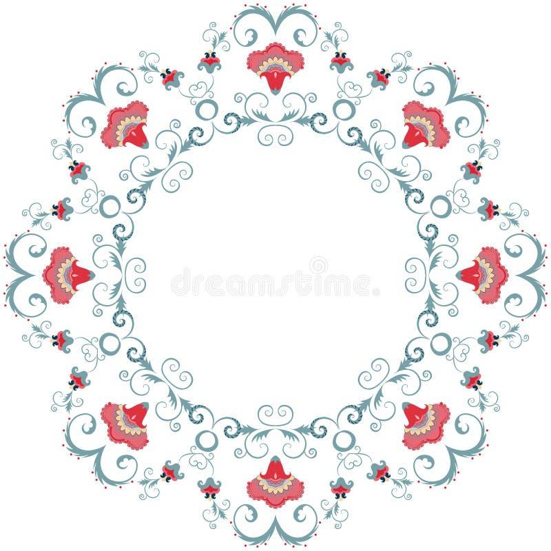 Abstract floral frame design element royalty free illustration