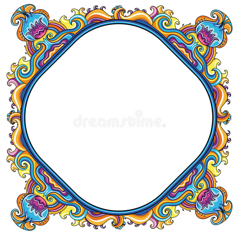 Download Abstract Floral Frame (series) Stock Vector - Illustration of border, banner: 14074684