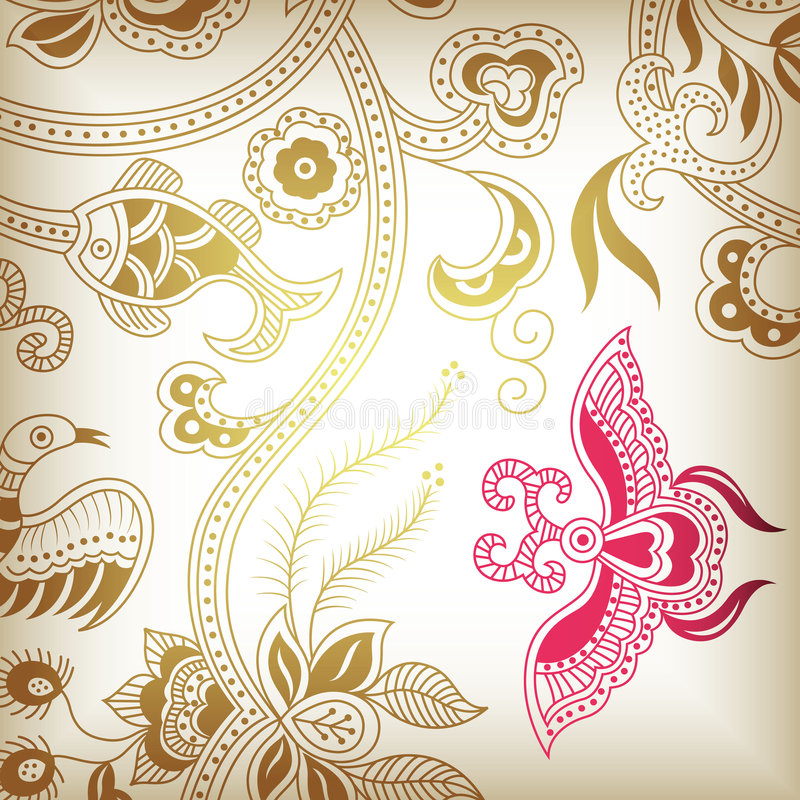 Download Abstract floral G stock vector. Image of silhouette, floral - 8993922