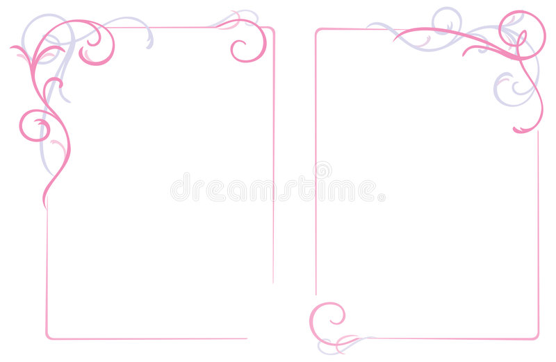 Abstract Floral Ornament Frame Stock Photo