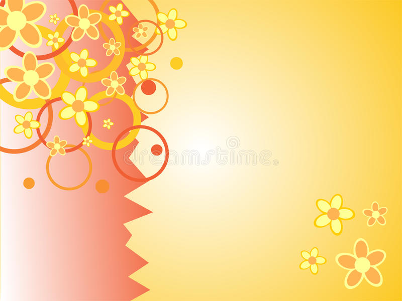 Abstract floral ornaments. 3d rendered illustration of an abstract floral background stock illustration