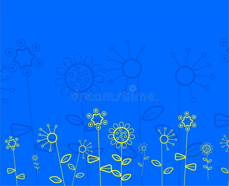Abstract floral pattern stock illustration