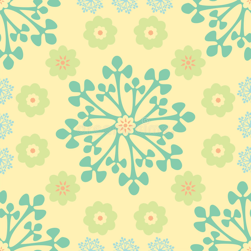 Download Abstract floral pattern stock vector. Image of paper, repeated - 6459356