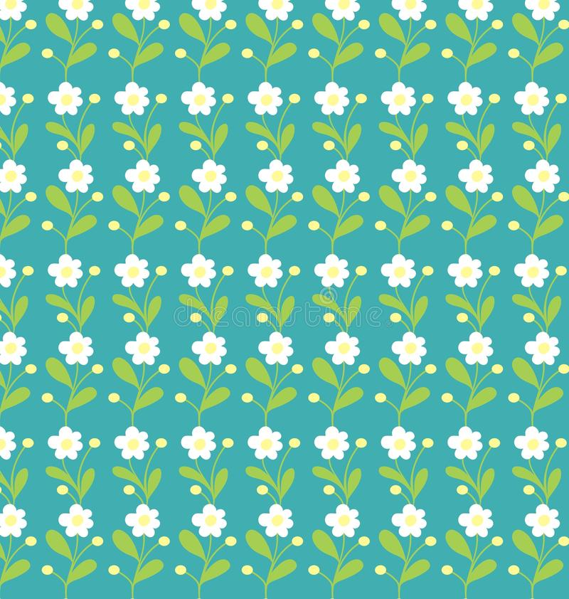 Small flowers seamless pattern vector illustration