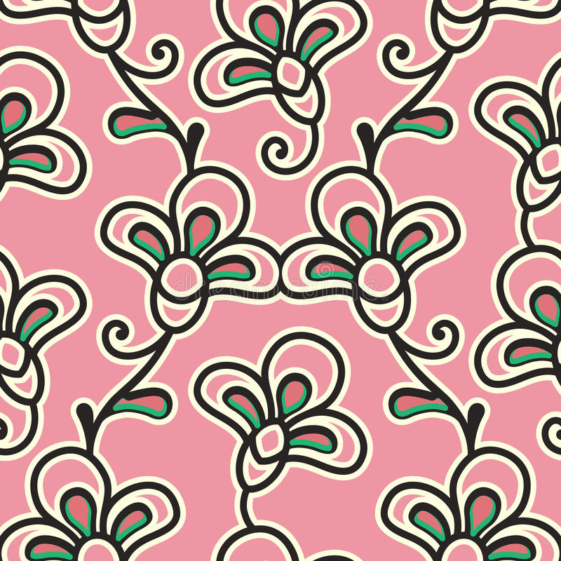 Download Abstract floral pattern stock vector. Illustration of leaf - 41385297