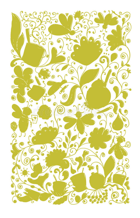 Abstract floral pattern, sketch for your design. Vector illustration vector illustration