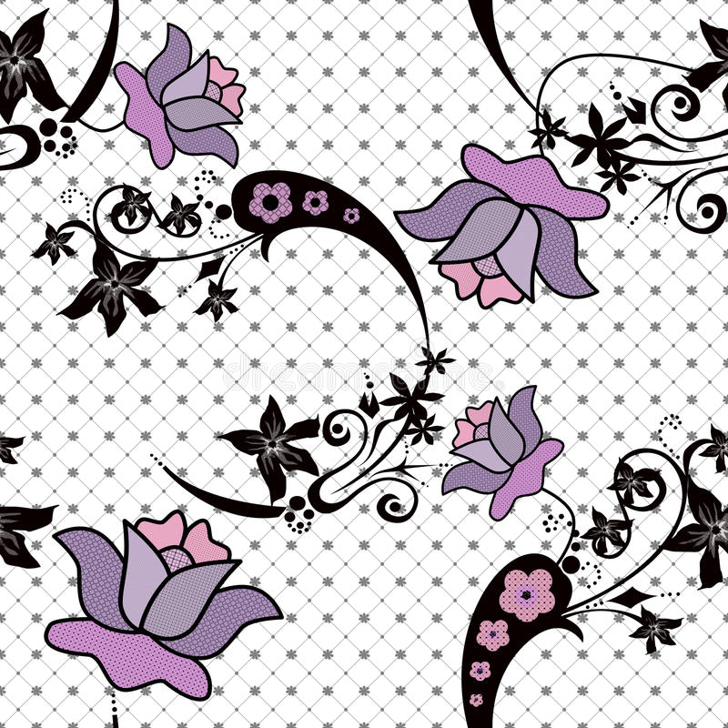 Download Abstract Floral Pattern On White Stock Images - Image: 36585454