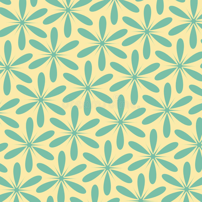 Abstract floral retro pattern.Vintage style color.Can be used for card design, pattern fills, web page background, surface texture vector illustration