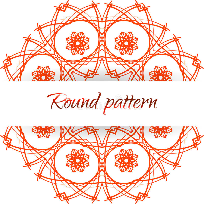 Download Abstract Floral Round Pattern Stock Illustration - Image: 34258400