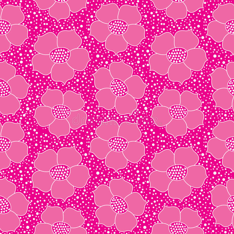 Abstract Floral Seamless Bright Background Stock Photos