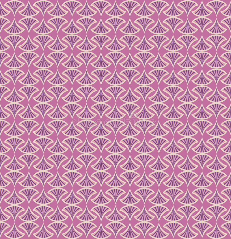 Abstract floral seamless pattern. Floral pattern seamless. Fan motif. Pink background. Elegant wallpaper vector illustration