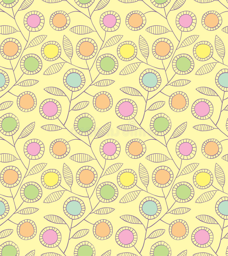 Abstract floral seamless background stock illustration