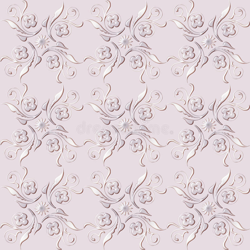 Abstract floral seamless pattern stock photo