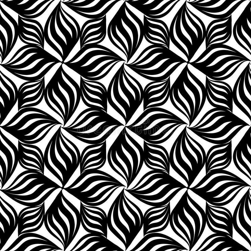 Abstract floral seamless pattern. Geometric floral ornament vector illustration