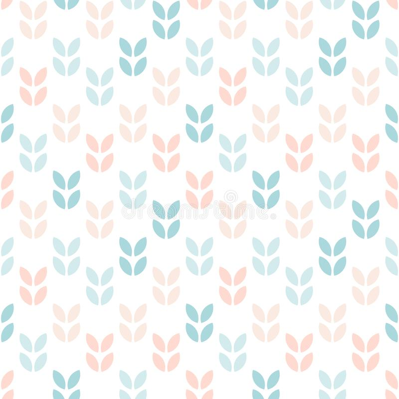 Abstract floral seamless pattern. Scandinavian style stock illustration