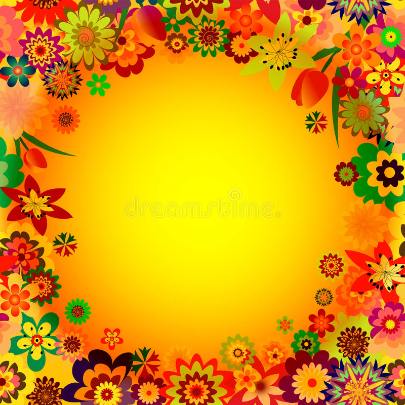 Download Abstract Floral Spring Frame Stock Vector - Image: 12317447