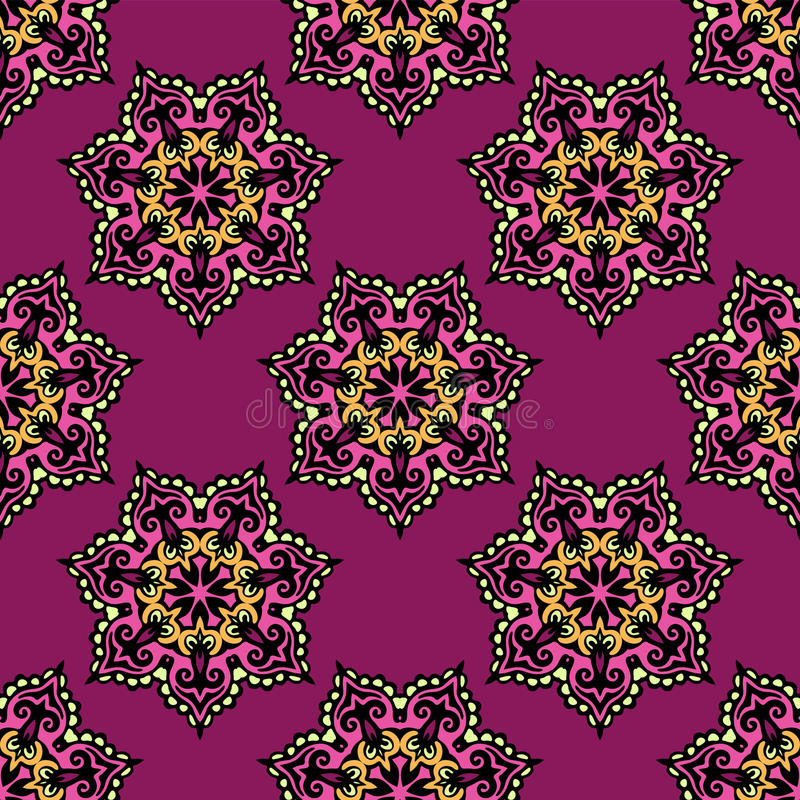 Free Abstract Floral Vector Background Seamless Royalty Free Stock Photos - 42412788