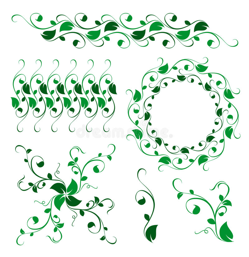 Abstract floral vector decoration ornament stock illustration