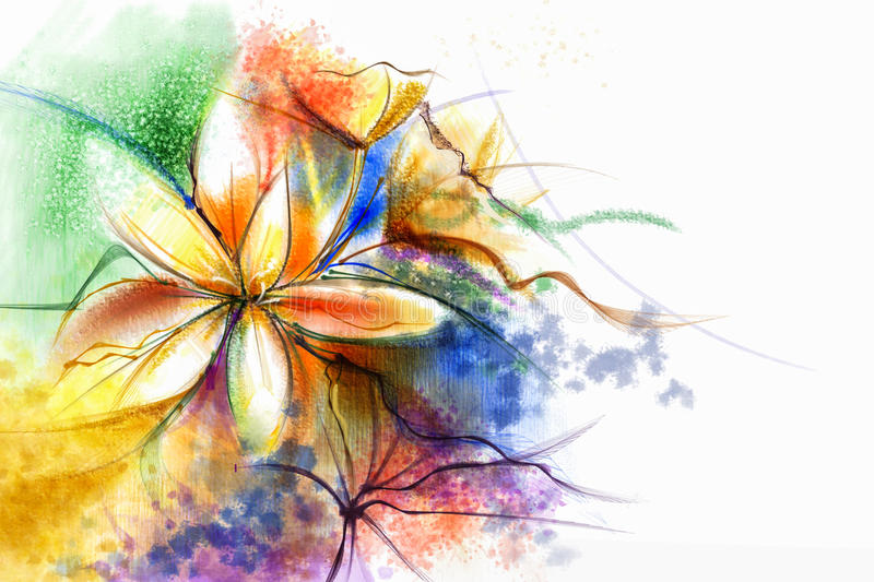 Abstract floral watercolor painting. Abstract colorful watercolour paintings for background vector illustration