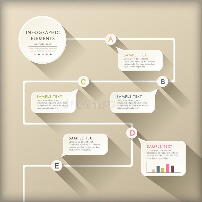 Free Abstract Flow Chart Infographics Stock Photos - 35971003