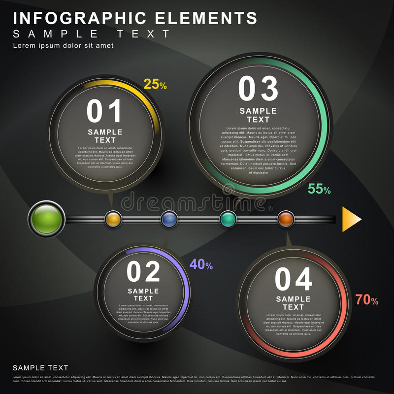 Abstract flow chart infographics. 3d vector abstract flow chart infographic elements stock illustration