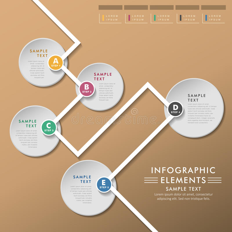 Abstract flow chart infographics vector illustration