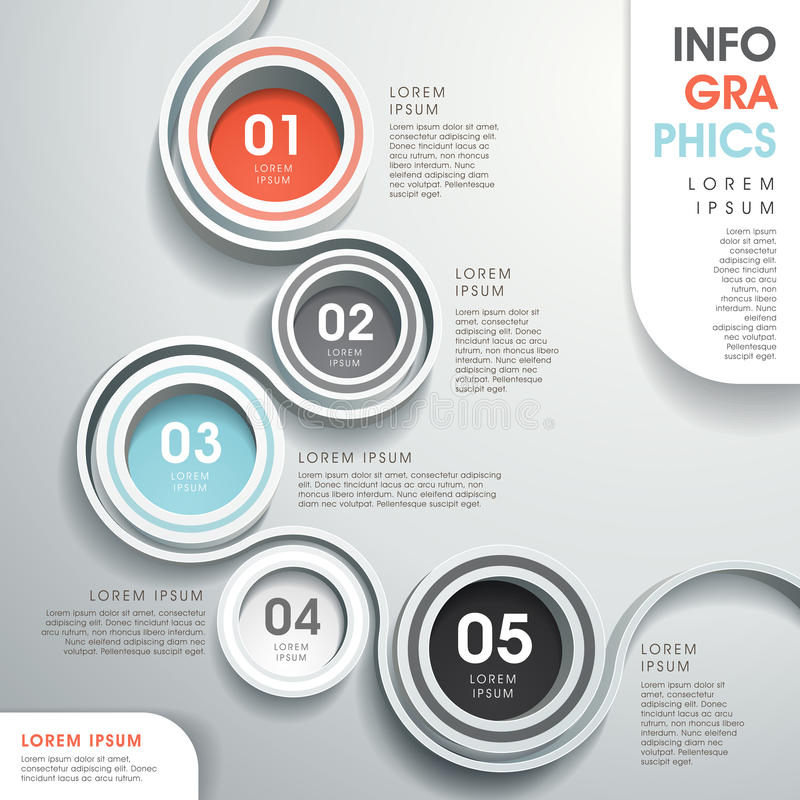 Abstract flow chart infographics royalty free illustration