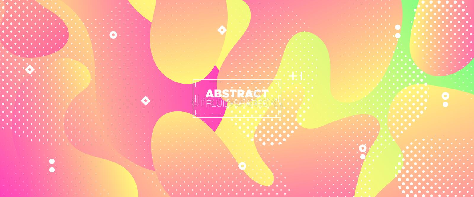 Abstract Flow Design. Pink Gradient Brochure. Pastel Graphic Movement. Futuristic Motion. Abstract Fluid Pattern. Minimal Brochure. Graphic Wallpaper stock illustration