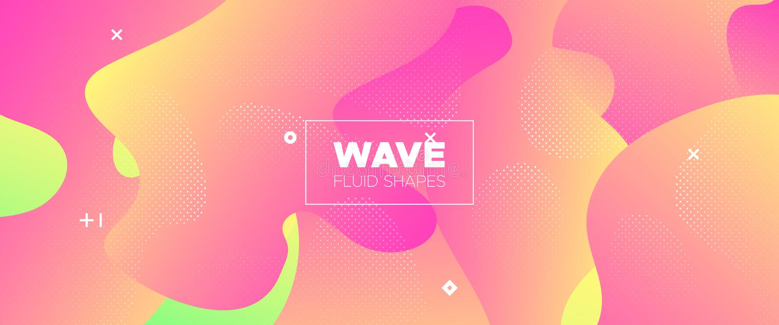 Abstract Flow Design. Red Gradient Brochure. Pastel Graphic Wallpaper. Futuristic Motion. 3d Fluid Background. Gradient Poster. Vector Illustration. Futuristic vector illustration