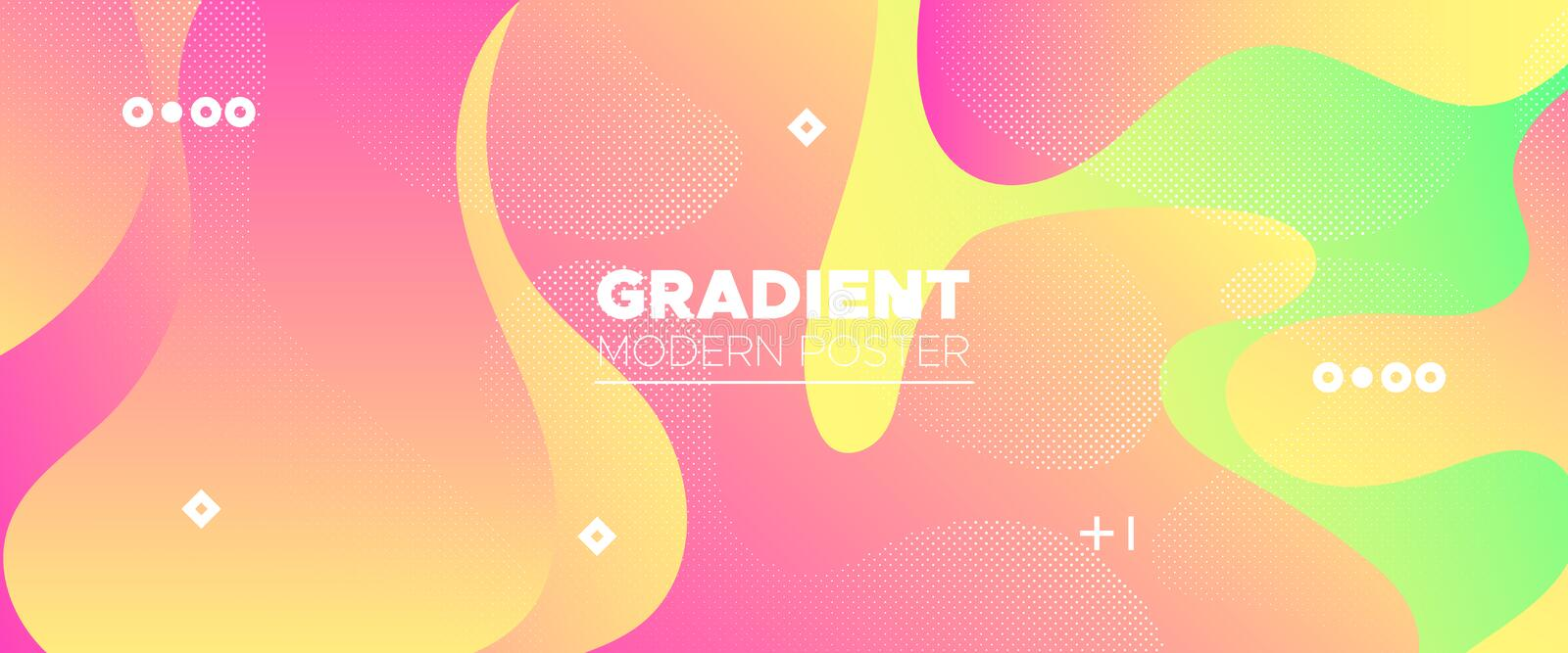 Abstract Flow Design. Red Gradient Brochure. Dotted Graphic Wallpaper. Futuristic Motion. Abstract Wave Shapes. Minimal Poster. Vector Illustration. Digital royalty free illustration