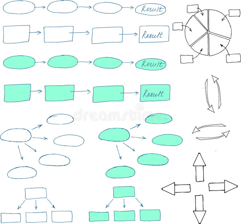 Abstract flowchart design elements stock illustration
