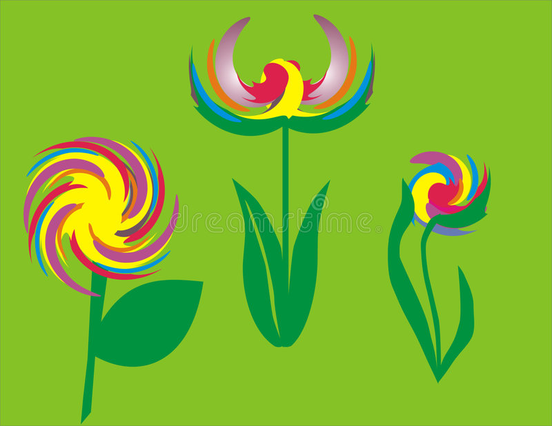 Abstract flower. Abstract color flower stock illustration