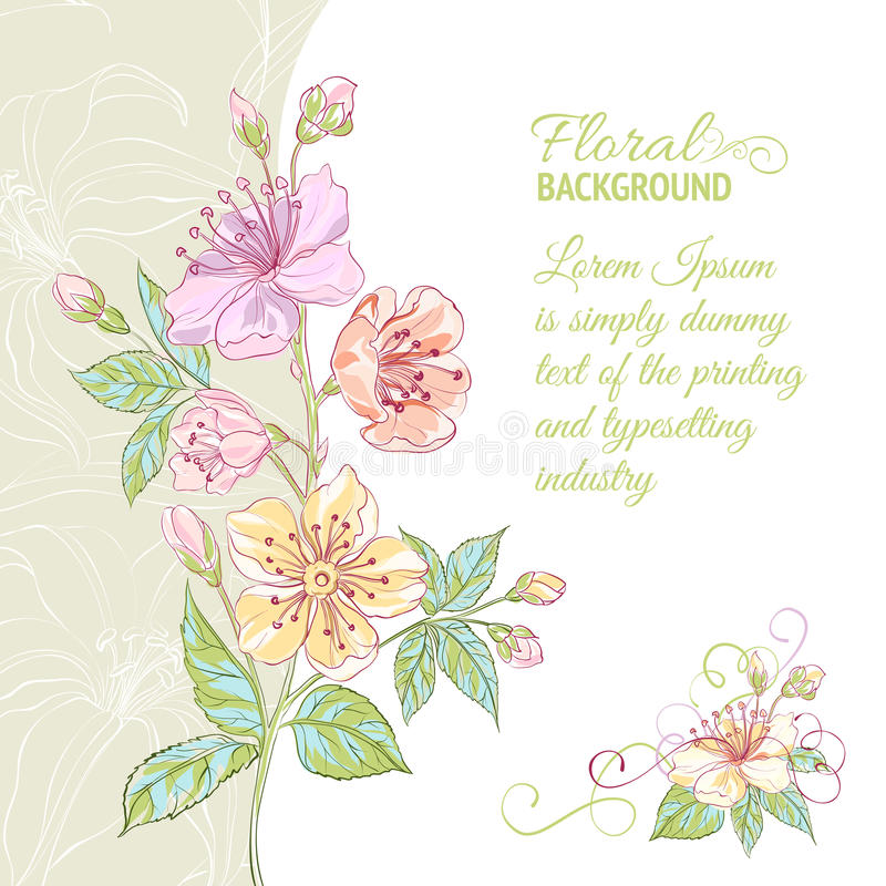 Download Abstract flower background stock vector. Illustration of drawing - 30745087