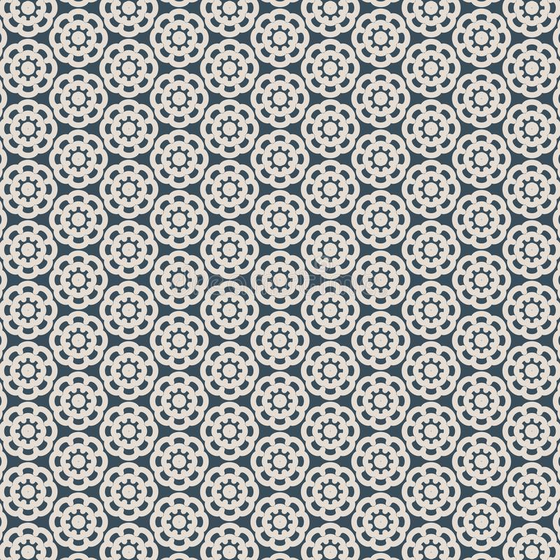 Abstract flower of Cutout ornament, lace texture, vector seamless pattern. Pattern is on swatches panel stock illustration