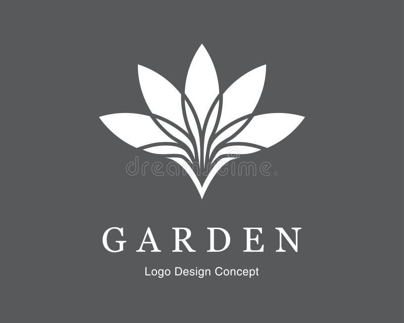 Abstract flower logo design. Creative lotus symbol. stock images
