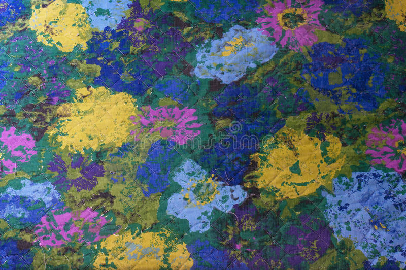 Abstract Flower Fabric Pattern royalty free stock image