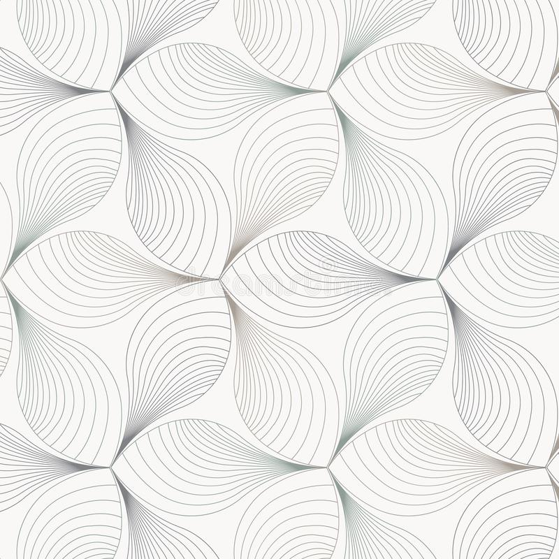Abstract flower or flora vector pattern, repeating linear curve on petals, clean design for wallpaper, fabric, paint. royalty free illustration