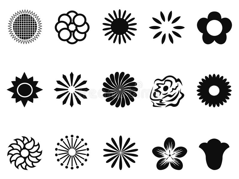 Abstract Background With Sport Icons Royalty Free Vector: Abstract Flower Icons Stock Vector. Illustration Of
