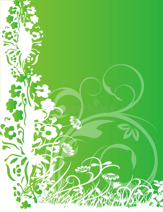Free Abstract Flower Illustration Flower Spring Green Stock Image - 17583871