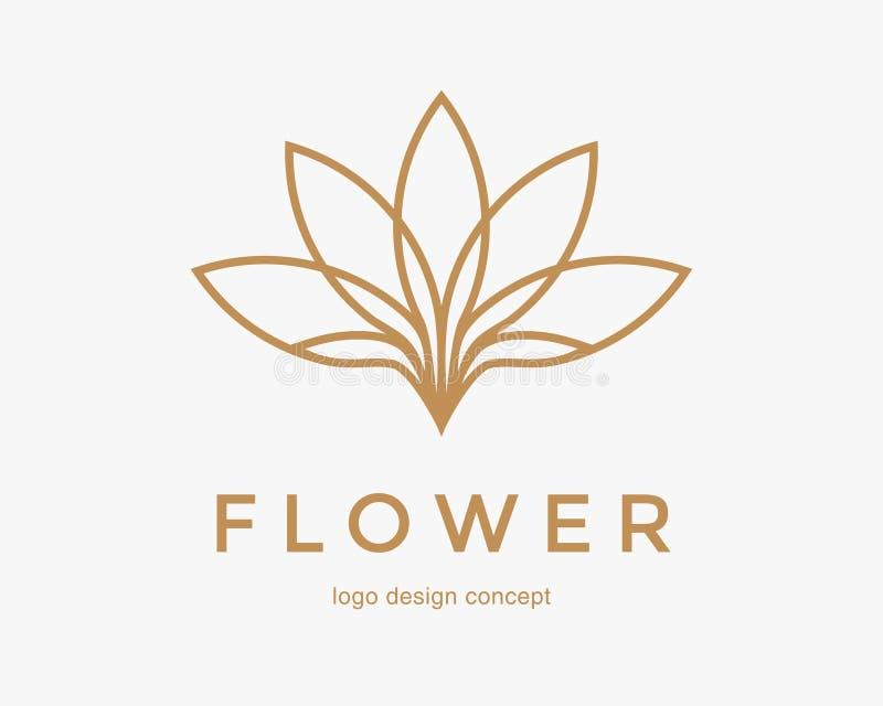 Abstract flower logo design. Creative lotus symbol. stock photography