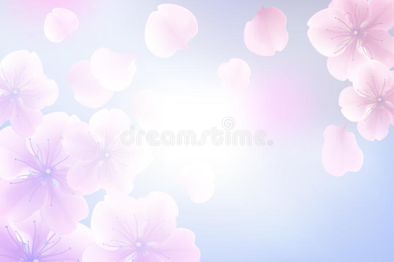 Abstract flower pastel blur for background, soft and blur concept stock illustration